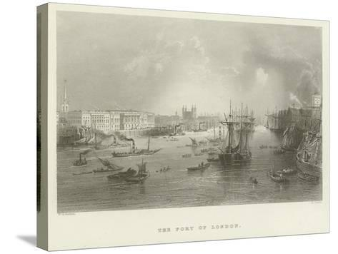 The Port of London--Stretched Canvas Print