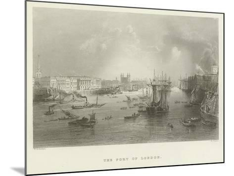 The Port of London--Mounted Giclee Print