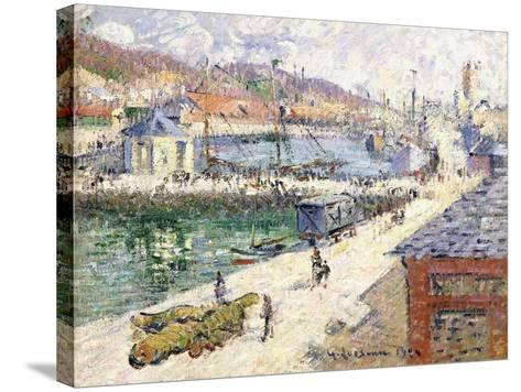 The Port of Fecamp, 1924-Gustave Loiseau-Stretched Canvas Print