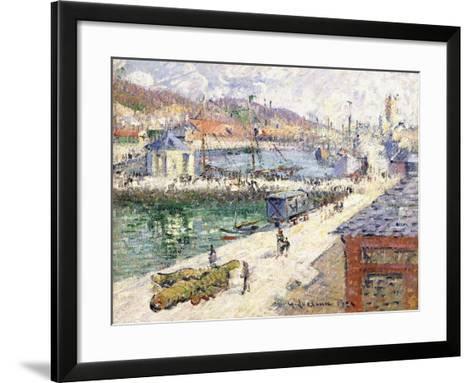 The Port of Fecamp, 1924-Gustave Loiseau-Framed Art Print