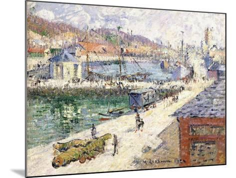 The Port of Fecamp, 1924-Gustave Loiseau-Mounted Giclee Print