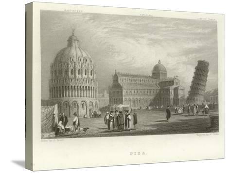 Pisa-Samuel Prout-Stretched Canvas Print