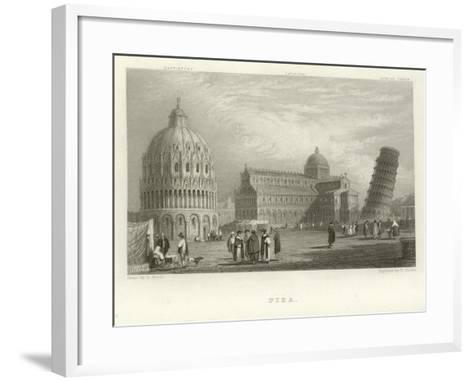 Pisa-Samuel Prout-Framed Art Print