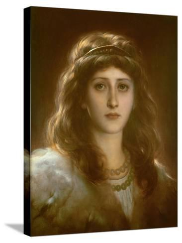 Portrait of a Lady-Frank Bernard Dicksee-Stretched Canvas Print
