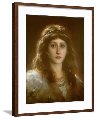 Portrait of a Lady-Frank Bernard Dicksee-Framed Art Print