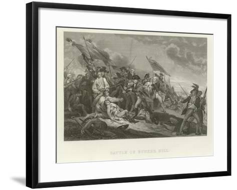 Battle of Bunker Hill-John Trumbull-Framed Art Print