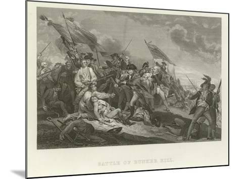 Battle of Bunker Hill-John Trumbull-Mounted Giclee Print