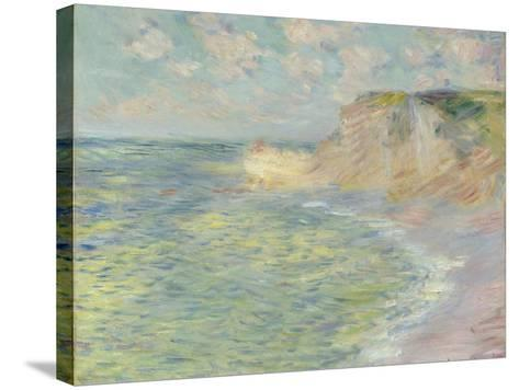 The Cliff Above, 1885-Claude Monet-Stretched Canvas Print