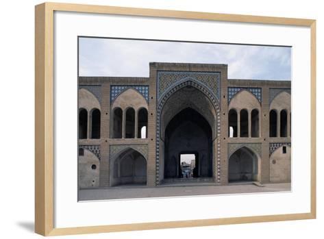 Courtyard of Agha Bozorg Mosque and Madrasa--Framed Art Print