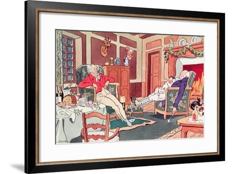 After Christmas Lunch--Framed Art Print
