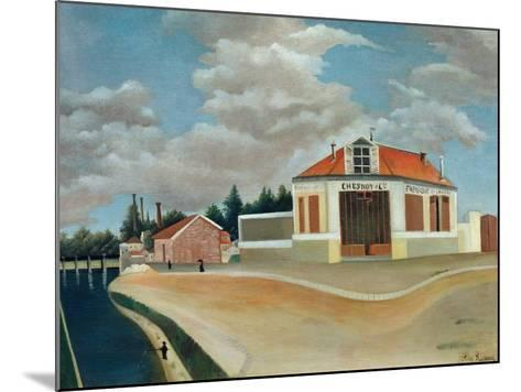 The Chair Factory at Alfortville, C.1897-Henri Rousseau-Mounted Giclee Print