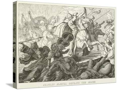 Charles Martel Defeats the Moors--Stretched Canvas Print