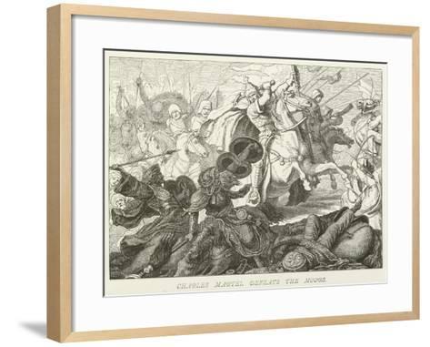 Charles Martel Defeats the Moors--Framed Art Print