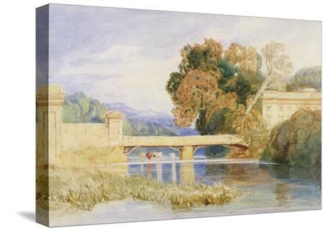 Chateau Navarre, Near Evreux, Normandy-John Sell Cotman-Stretched Canvas Print