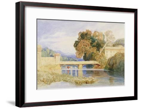 Chateau Navarre, Near Evreux, Normandy-John Sell Cotman-Framed Art Print