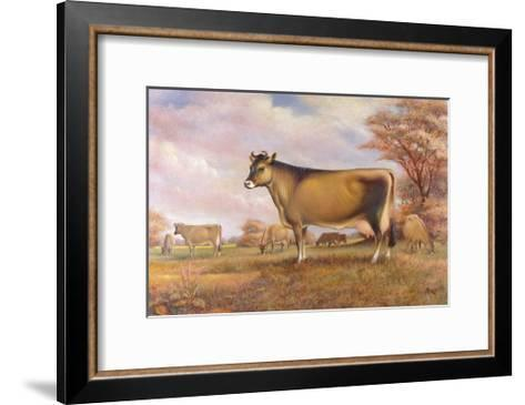 Jersey Cow-Dudley Pout-Framed Art Print