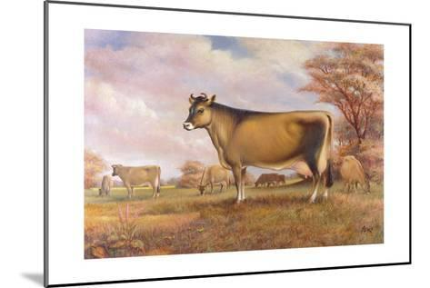 Jersey Cow-Dudley Pout-Mounted Giclee Print