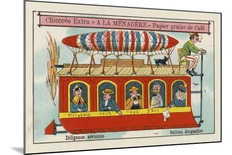 Dirigible Balloons: Aerial Stagecoach--Mounted Giclee Print