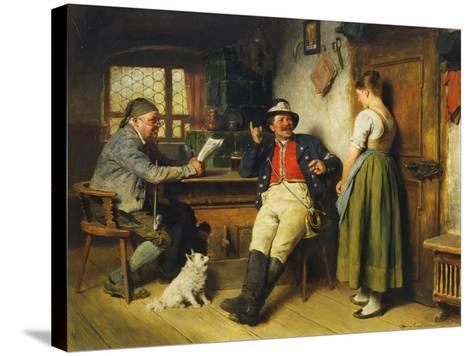 Figures in an Interior, 1891-Hugo Kauffmann-Stretched Canvas Print