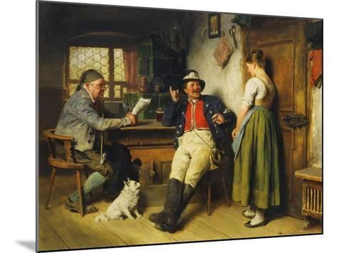 Figures in an Interior, 1891-Hugo Kauffmann-Mounted Giclee Print