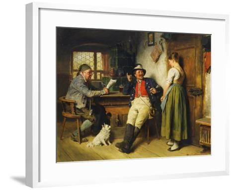 Figures in an Interior, 1891-Hugo Kauffmann-Framed Art Print