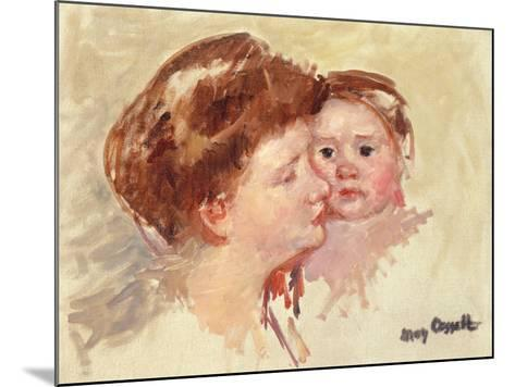 Mother in Profile with Baby Cheek to Cheek-Mary Cassatt-Mounted Giclee Print