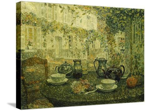 The Stone Table; Le Table De Pierre, 1919-Henri Eugene Augustin Le Sidaner-Stretched Canvas Print
