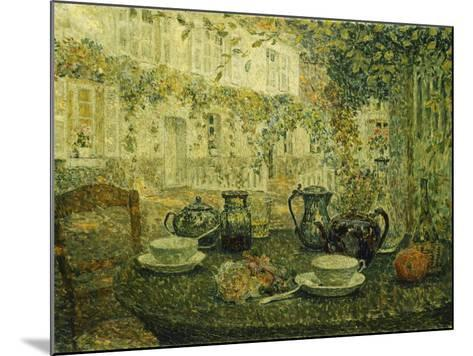 The Stone Table; Le Table De Pierre, 1919-Henri Eugene Augustin Le Sidaner-Mounted Giclee Print