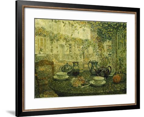 The Stone Table; Le Table De Pierre, 1919-Henri Eugene Augustin Le Sidaner-Framed Art Print