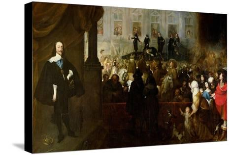 Execution of Charles I-Gonzales Coques-Stretched Canvas Print