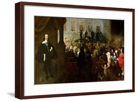 Execution of Charles I-Gonzales Coques-Framed Art Print