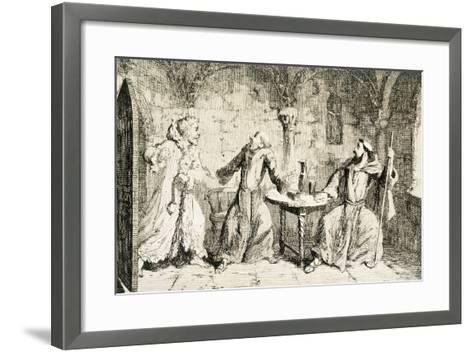 Ivanhoe, Historical Novel by Sir Walter Scott--Framed Art Print