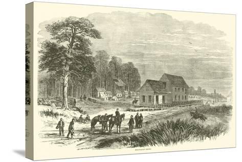 Pocotaligo Depot, January 1865--Stretched Canvas Print