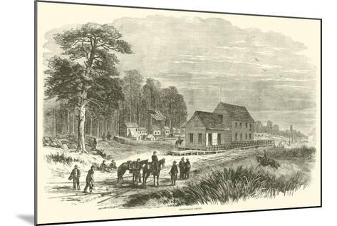 Pocotaligo Depot, January 1865--Mounted Giclee Print