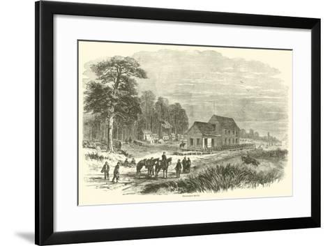 Pocotaligo Depot, January 1865--Framed Art Print