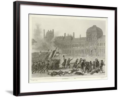 10 August 1792-Denis Auguste Marie Raffet-Framed Art Print
