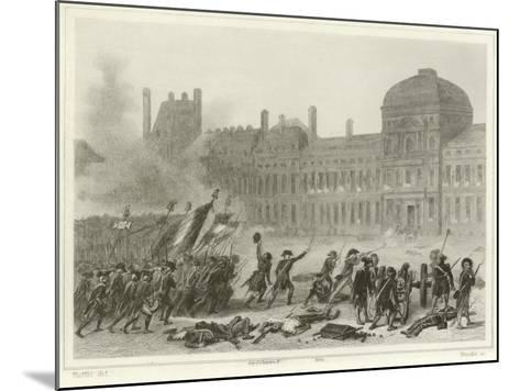 10 August 1792-Denis Auguste Marie Raffet-Mounted Giclee Print