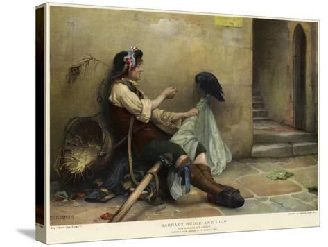 Barnaby Rudge and Grip, 1906-Nellie Joshua-Stretched Canvas Print