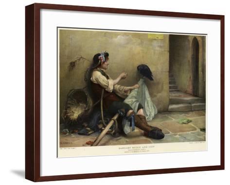 Barnaby Rudge and Grip, 1906-Nellie Joshua-Framed Art Print