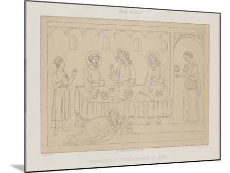 Madeleine Throws Herself at the Feet of Jesus--Mounted Giclee Print