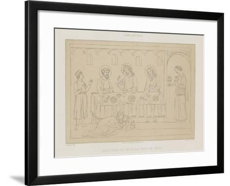 Madeleine Throws Herself at the Feet of Jesus--Framed Art Print