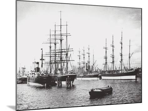 Passat, Priwall and Parma at Hamburg--Mounted Photographic Print