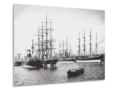 Passat, Priwall and Parma at Hamburg--Metal Print
