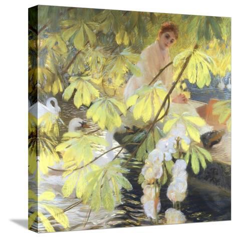 Under the Tree-Gaston De Latouche-Stretched Canvas Print