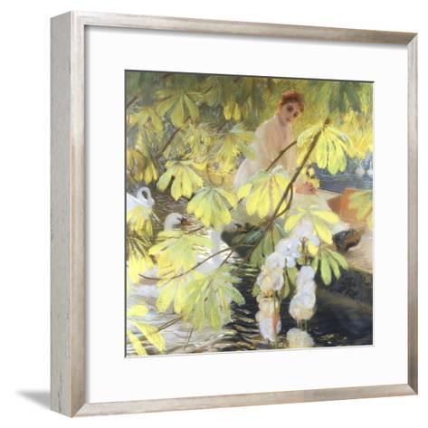Under the Tree-Gaston De Latouche-Framed Art Print