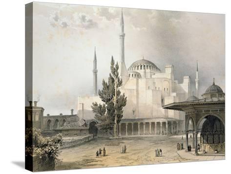 Courtyard of Hagia Sophia-Gaspard Fossati-Stretched Canvas Print