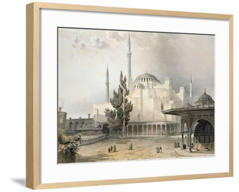 Courtyard of Hagia Sophia-Gaspard Fossati-Framed Art Print