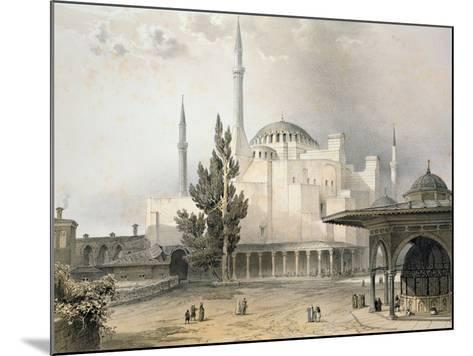 Courtyard of Hagia Sophia-Gaspard Fossati-Mounted Giclee Print