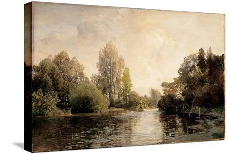 A View from Plankenberg, 1887-Emil Jakob Schindler-Stretched Canvas Print