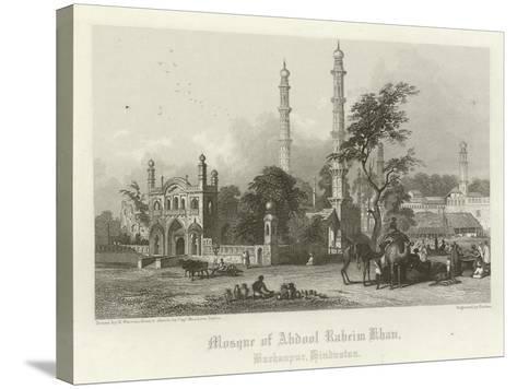 Mosque of Abdul Rahim Khan, Burhanpur, India-Henry Warren-Stretched Canvas Print
